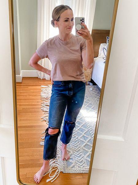 Love these distressed Abercrombie jeans. Run TTS. Light black color    #LTKsalealert #LTKstyletip #LTKunder100