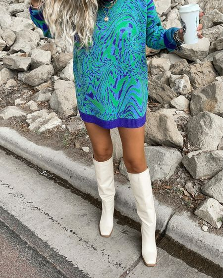 Nordstrom wildfang sweater dress fall outfit ideas boots booties hair clips  #LTKunder100 #LTKshoecrush #LTKstyletip