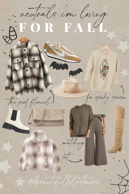 My fall favorites for 2021! 🖤 Comfy sets + shirt flannel + Nike shoes + Steve Madden boots + Sherpa #fallneutrals #fallessentials  #LTKGiftGuide #LTKsalealert #LTKSeasonal