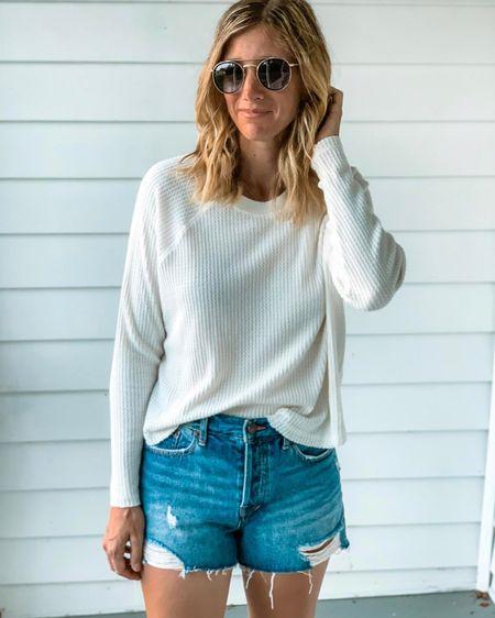 Target waffle knit top ✨ waffle knit shirt ✨ Jean shorts ✨ denim shorts ✨ sandals ✨ sunglasses ✨ fall outfit ✨ beach outfit ✨ vacation outfit ✨ amazon fashion ✨ amazon prime ✨ target style ✨ fall outfits Shop my daily looks by following me on the LIKEtoKNOW.it shopping app http://liketk.it/2YiYB O #liketkit @liketoknow.it #LTKstyletip #LTKunder50 #LTKfamily #styhomewithltk #ltksalealert