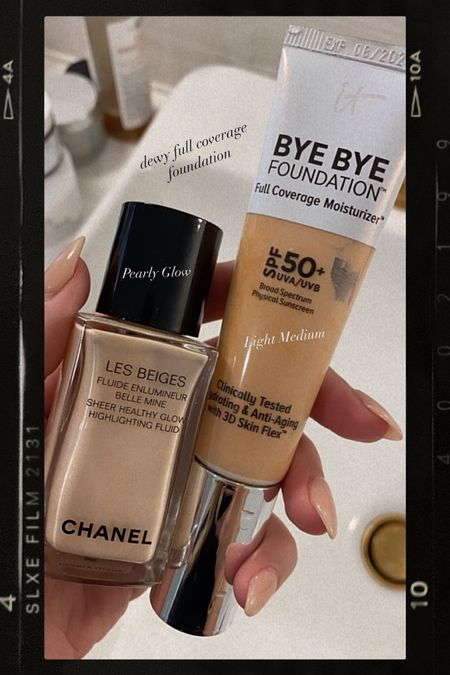 It cosmetics foundation and Chanel highlighter #makeup