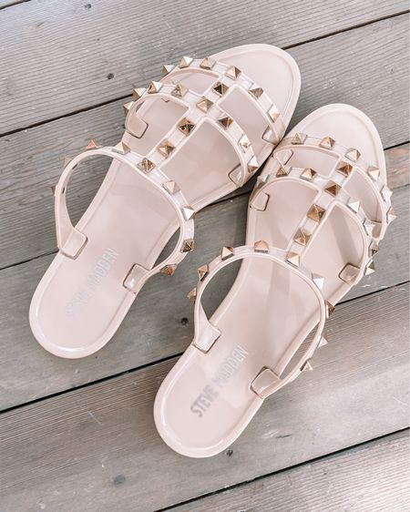 Amazon studded sandals - true to size  Amazon fashion finds amazon sandals amazon summer sandals amazon shoes #LTKunder50 #LTKunder100 #LTKshoecrush http://liketk.it/3axps #liketkit @liketoknow.it