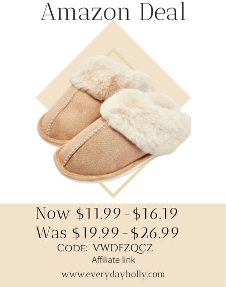 Amazon deal! 🎁🎄 Another great gift idea! Code: VWDFZQCZ Slip on Fuzzy House Slippers for Women Men with Memory Foam Warm Cozy Non-Slip Faux Fur Bedroom Home Shoes Indoor/Outdoor  Gifts for moms • gifts for teen girls • gifts for her • gifts under $15   #LTKsalealert #LTKGiftGuide #LTKunder50