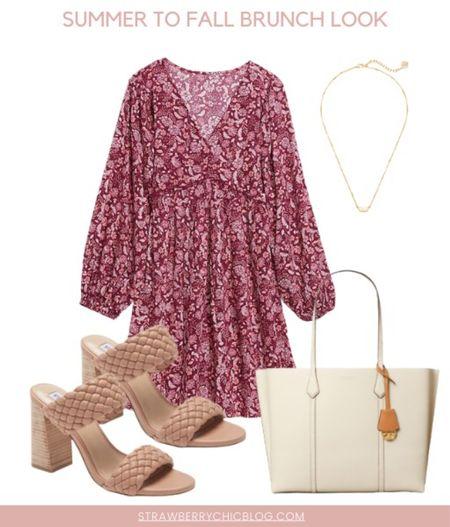 Summer to fall brunch look- floral dress with heels   #LTKSeasonal #LTKstyletip #LTKshoecrush