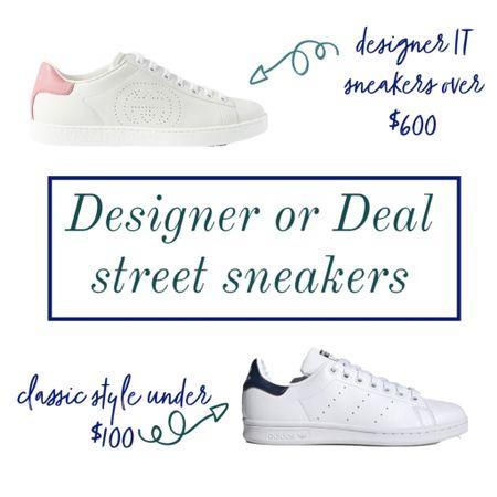 Street sneakers - designer or deal ❤️ I own the deal pair and love them!! 💃🏻🙌  #LTKunder100 #LTKshoecrush #LTKstyletip