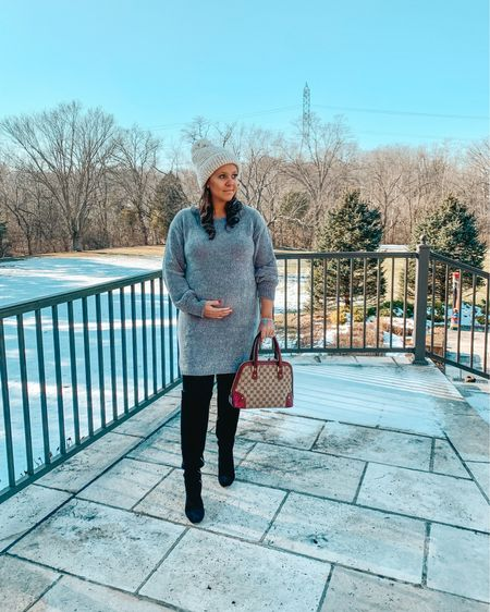 Hello #2020 and hello deals! This cozy chenille sweater dress is 20% off with code NEWLOOK 🎉❄️ Hope you guys are having the best #NewYearsDay Stay tuned to my stories for your chance to win some cash at 8 pm EST 💗💗💗 @pinkblushmaternity #prettyinpinkblush #ad #shoppinkblush @liketoknow.it http://liketk.it/2IHoz #liketkit #LTKbump