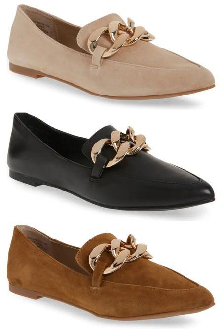 Steve Madden gold chain loafers   #LTKshoecrush #LTKunder100 #LTKSeasonal