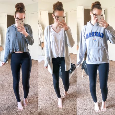 Why working from home is the best 👩🏻💻 1: Wearing your husbands clothes to work (aka his college hoodie shown here) 🙌🏻 2: Leggings are totally pants 🖤 3: You can work from your bed 🛏 (or anywhere else in the house)  4: Unlimited snack breaks 🥯 5: Fur babies make excellent co-workers 🐶🐶  Why working from home is a struggle 🙃 Snacking all day = weight gain. I'm a little afraid to get out of my comfy clothes and try my jeans on again 😬🤰🏻#quarantine15    http://liketk.it/2MiXt #liketkit @liketoknow.it