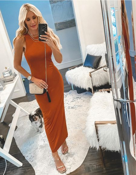 The most flattering UNDER $100 fitted maxi dress EVER! It comes in black too ams runs tts, I'm wearing an XS. @liketoknow.it #liketkit http://liketk.it/3jWh5 Shop my daily looks by following me on the LIKEtoKNOW.it shopping app  Follow my shop on the @shop.LTK app to shop this post and get my exclusive app-only content!  #liketkit #LTKunder100 #LTKunder50 #LTKstyletip @shop.ltk http://liketk.it/3jWh5