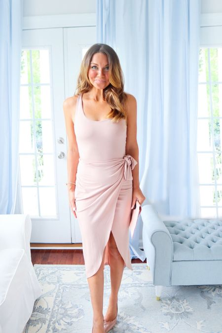 Our men think we get dressed up for them when in reality I would put on a dress before having to suck in, squeeze and shimmy into skinny jeans annnnny day.    🛍LTK: This brand is one of my favs for date night dresses! #LTKbeauty #LTKcurves #LTKSeasonal