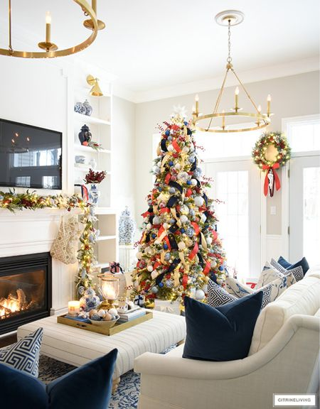 Get your home holiday ready in blue red and gold!  #LTKhome #LTKHoliday #LTKstyletip
