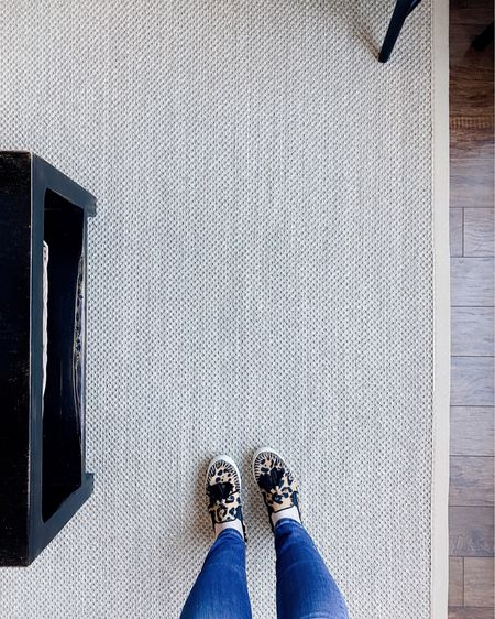 """Has anyone else struggled with finding the """"perfect"""" rug?! 🙋🏻♀️ I've been looking for a new living room rug for over a year and could not decide for the life of me. I knew I wanted something fairly neutral, tonal and low pile, but didn't know if I wanted a layered look, a vintage patterned rug or a natural fiber rug. Couldn't be too yellow or too orangey, too loopy it would come apart, or too busy with it's pattern that it would feel overpowering. And of course, couldn't be too expensive bc the vintage rugs I was falling in love with were 💰💰💰😩. I mean I was driving myself nuts tbh. After hourrrsss of searches and about a half dozen rug samples, I finally found this one—a sisal with just the right contrast and texture I needed without being too yellow—it's a beautiful neutral tan. It finally came in yesterday and I couldn't be happier. Best part, it didn't break the bank! 🙌🏻 Now I can start saving for that gorg vintage rug I want to layer over 🤪 {source link in bio}  http://liketk.it/39y4g #liketkit @liketoknow.it #LTKhome #StayHomeWithLTK"""