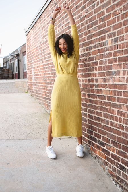 I'm doing the happy dance because It's Cyber Week and the sales are so good! #ad @anthrpologie is having their biggest sale of the year, the perfect time to grab a classic dress!  The one I'm wearing is so comfortable either for a quick errand or an adorable (and cozy)  at-home look. The Anthro sale includesthecandles , the softest throws & sweaters, holiday dresses & EVERYTHING is 30% off for AnthroPerks members. If you aren't a member use my code DILEINY30 for early access! ✨Screenshot this photo to shop my look! #myanthropologie #anthropartner http://liketk.it/321K6 #liketkit @liketoknow.it #LTKsalealert #LTKgiftspo #StayHomeWithLTK