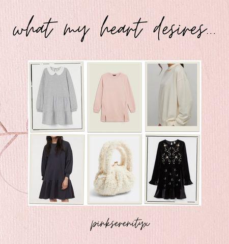 Pink jumper - cosy jumper dress - jumper dress - velvet dress - teddy bag - dresses at home - dress down - dress up      #StayHomeWithLTK #LTKSeasonal #LTKunder50