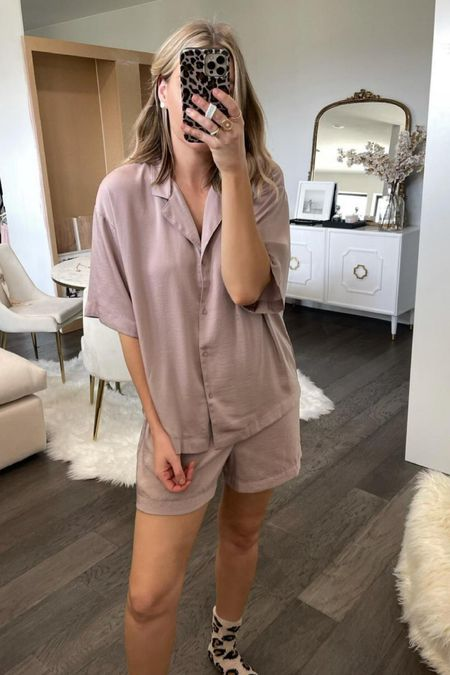 Best. Pajamas. Ever. Sooooo cozy and lightweight ! Wearing size small and they fit perfectly oversized!   #LTKunder100 #LTKstyletip #LTKunder50