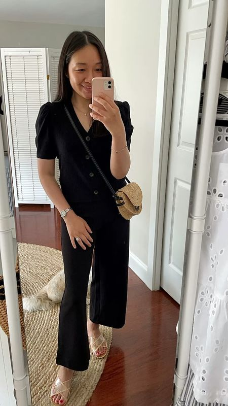 Today's outift. Cardigan is size S regular which fite like XS petite. Pants are my usual XXS regular.  #LTKunder100 #LTKstyletip #LTKshoecrush