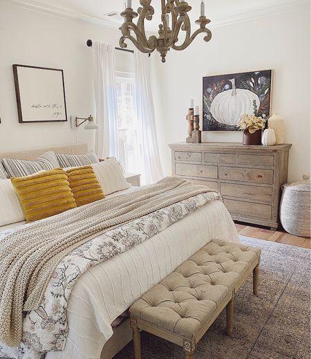 Fall decor // Fall bedroom // Farmhouse  #LTKhome #LTKunder50 #LTKSeasonal