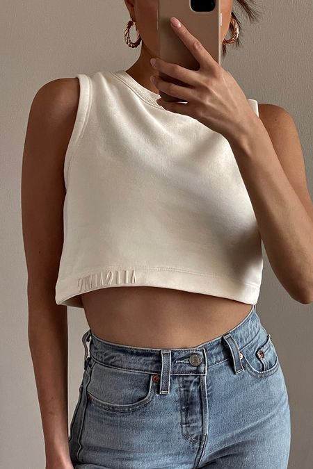 OOTD   AllSaints crop top   Jones Hoops by 8 Other Reasons   Levi's wedgie fit jeans   spring and summer outfit inspo   summer fashion http://liketk.it/3eZkJ  #liketkit @liketoknow.it #LTKunder50 #LTKunder100 #LTKstyletip