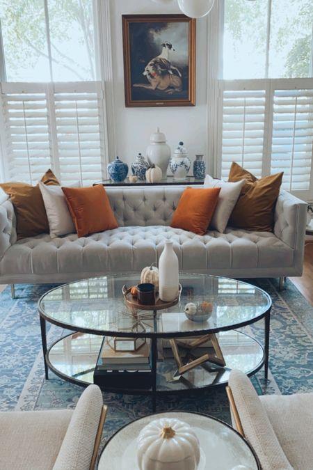Fall home decor, sofa, living room decor, fall colors, fall updates, anthro, amazon   #LTKSeasonal #LTKhome