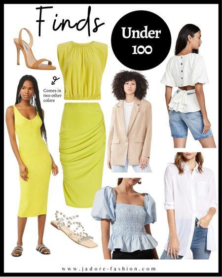 Summer set, summer dresses, Nordstrom sales and shoes under $100  #LTKsalealert #LTKunder50 #LTKunder100