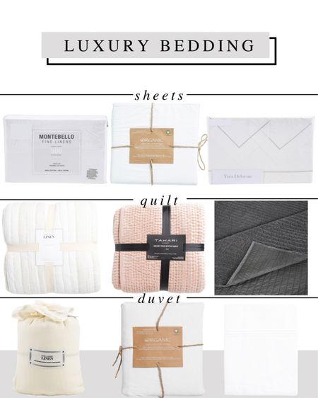 Luxury bedding at affordable prices at TJ Maxx online!   Bed sheets set, quilt, coverlet, duvet, linen, velvet, euro pillow, shams, king pillows, mattress topper, bedroom inspiration   #LTKhome