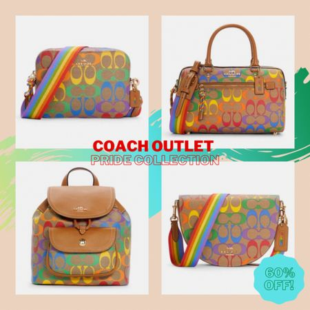 The new Pride Collection at Coach Outket is here and it's BEAUTIFUL!! Over 20 items in this collection and they are all 60% off already! Get yours now because they will go fast 🤩🌈✨ #coach #coachoutlet #pride #pridemonth #pridecollection #rainbow #LTKsalealert #LTKitbag #LTKstyletip #liketkit @liketoknow.it http://liketk.it/3gruu