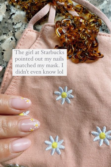 Daisy mask and chain http://liketk.it/3ay1l #liketkit @liketoknow.it #StayHomeWithLTK #LTKunder50 #LTKstyletip