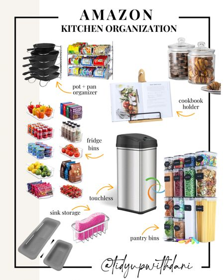Amazon Finds: Kitchen Organization under $50. Organize your entire kitchen without breaking the bank. Affordable kitchen organizers. Pantry organization. Small kitchen organization. Kitchen must-haves. Refrigerator storage bins. Air tight containers for your pantry. Kitchen storage and organizers.   #LTKunder50 #LTKhome