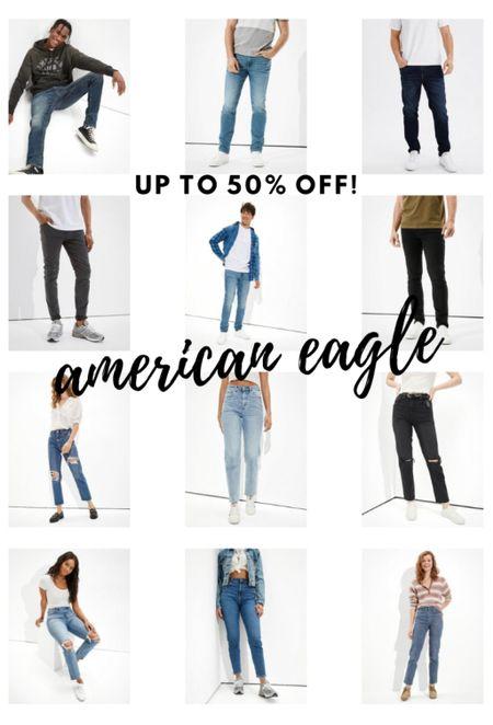 Up to 50% off everything at American Eagle, including jeans!  #LTKGiftGuide #LTKmens #LTKworkwear