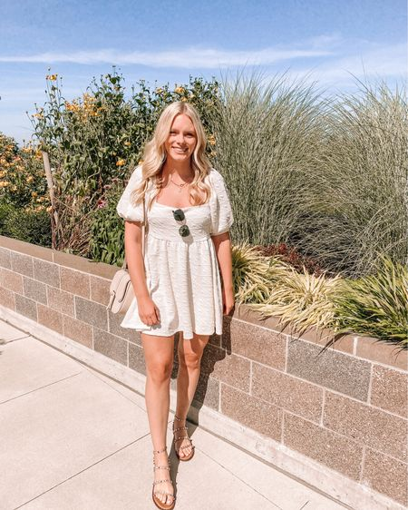 White mini dresses make me one happy gal! This one is perfect for summer and even transitioning into fall 👏🏻💕 @liketoknow.it http://liketk.it/2SqoH #liketkit #LTKunder50 #LTKunder100