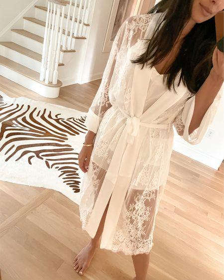 Silk lace robe. http://liketk.it/3h2Xu #liketkit @liketoknow.it #LTKwedding #robe #bridal
