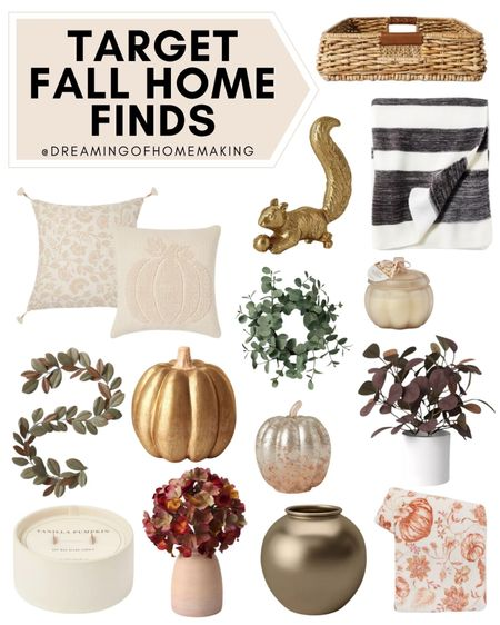 Target fall home finds!!  Dreaming of Homemaking | #DreamingofHomemaking   #LTKunder100 #LTKunder50 #LTKhome