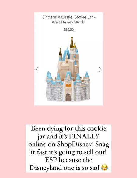 ShopDisney Cinderella castle cookie jar Disney style Disney home Walt Disney world   #LTKtravel #LTKhome #LTKunder100