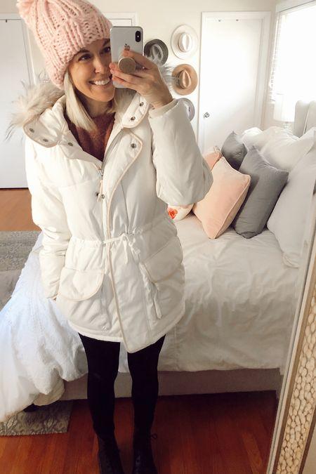 Parka coat on sale http://liketk.it/2JpOe @liketoknow.it #liketkit #LTKsalealert #LTKstyletip  Winter coats White coat Snow jacket Dr Martens