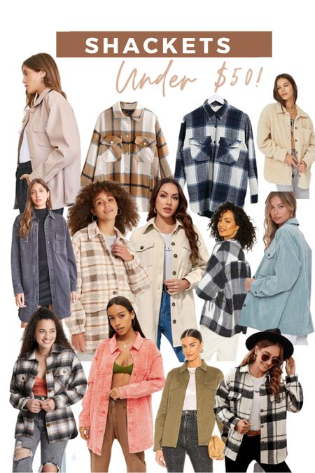 Shackets under $50! The perfect fall fashion item!   #LTKstyletip #LTKsalealert #LTKunder50