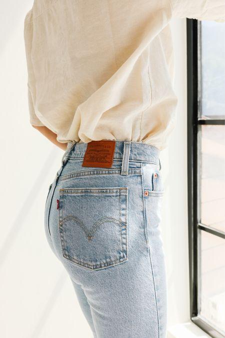 Levi's style, linen shirt   #LTKstyletip #LTKunder100 #LTKworkwear