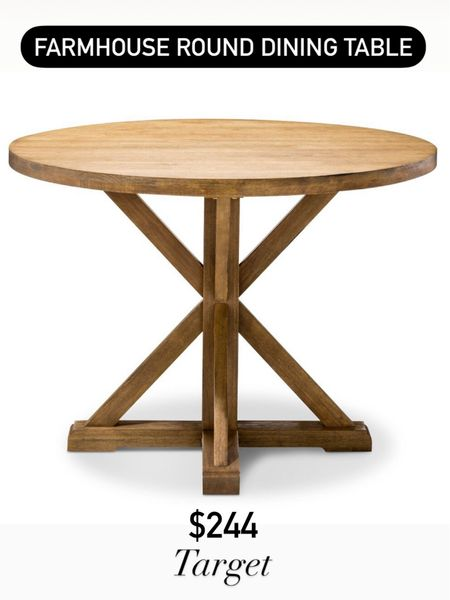 Farmhouse round pedestal dining table   Target home / target finds / farmhouse finds / kitchen http://liketk.it/3hYfd #liketkit @liketoknow.it #LTKhome #LTKstyletip @liketoknow.it.home