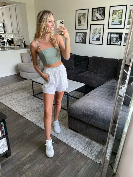 LTKDAY 20% off Abercrombie!! Summer sale, crop tops, shorts and so much more! My top comes in a few different colors! I'm wearing an XS in the top and S in the shorts    #LTKsalealert #LTKDay #LTKSeasonal @liketoknow.it #liketkit http://liketk.it/3hkf4