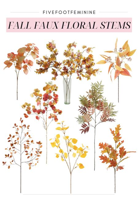Fall floral stems! Use these as  your fall home decor. Some of these stems are very large and may only require 2-3 stems to make a impact!   #LTKSeasonal #LTKhome #LTKHoliday
