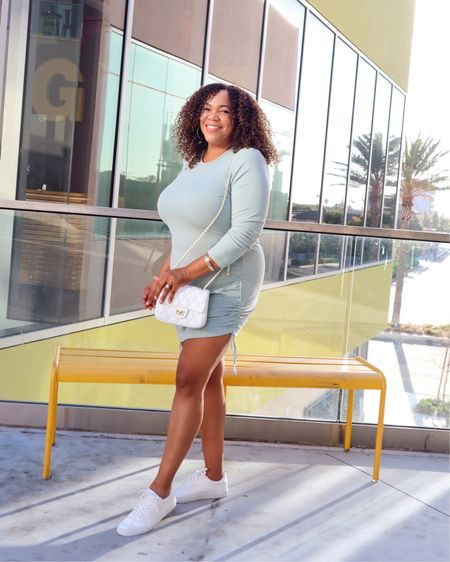 Unexpected color for Fall 🍂 with pops 💥 of white! I'm loving the sage green and mint colors for fall. We can wear what we want, when we want, right 💁🏾♀️?!  ⠀⠀⠀⠀⠀⠀⠀⠀⠀ This dress is from #gracekarin @amazonfashion I'm wearing an xl. This was one of the items I shared during one of my @amazonlive streams. It's linked in my Amazon store. Go to the link in in Bio! #affiliatelink #comissionsearned    #LTKunder50 #LTKstyletip #LTKcurves