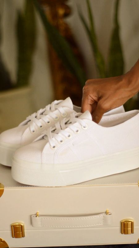I'm obsessed with these Superga white platform sneakers via Zappos. They run half a size large, so I would size down half a size on these shoes.  They're under $90 at Zappos!   #LTKunder100 #LTKshoecrush #StayHomeWithLTK