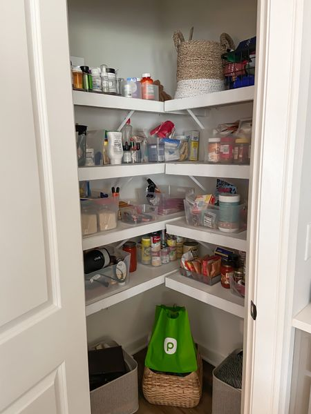 Pantry organization must-haves include these clear bins to store all your groceries in!   #LTKfamily #LTKunder50 #LTKhome