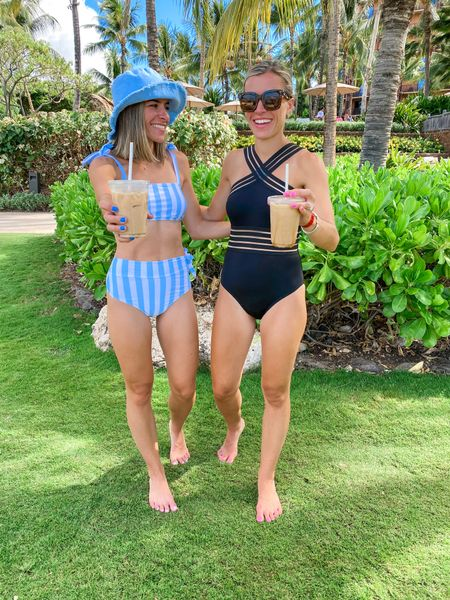 Amazon swimsuits wearing size small in both   #LTKtravel #LTKswim #LTKunder50