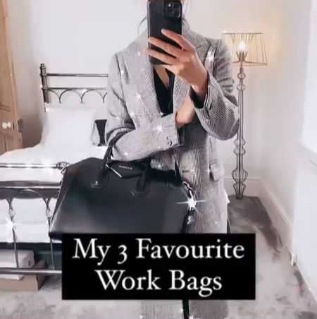 3 of my TOP designer bags to use for work. The Givenchy Antigona and Louis Vuitton OnTheGo tote are both great for laptops. The Prada double tote is a neutral that works well for keeping your things organised inside.   #louisvuitton #workwear #bosslady #designerbags #givenchyantigona #LVonthego #pradabag  #LTKstyletip #LTKworkwear