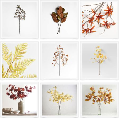 Fall foliage, faux stems, branches, leaves, fall decor   #LTKhome #LTKunder100 #LTKSeasonal