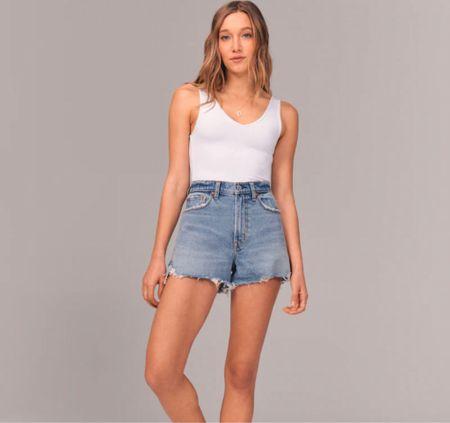 90s denim shorts from Abercrombie #Ltkday  Jean shorts cutoff shorts   #LTKsalealert #LTKstyletip #LTKunder50