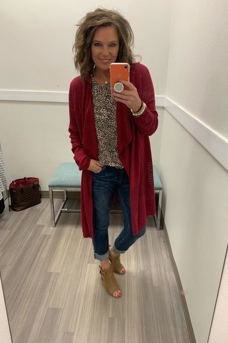 Loving this cranberry cardigan I found while doing a Try-on Session the other day. It's perfect pairing it with leopard print!! http://liketk.it/2Fpyd @liketoknow.it Shop my daily looks by following me on the LIKEtoKNOW.it shopping app #liketkit #LTKworkwear #LTKunder50 #LTKstyletip #LTKsalealert #LTKshoecrush #LTKunder100 #LTKtravel