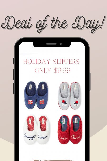Holiday slippers only $9.99  #LTKGiftGuide