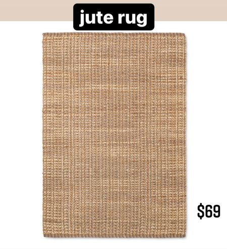 Woven jute rug for only $69!   #LTKstyletip #LTKDay #LTKhome