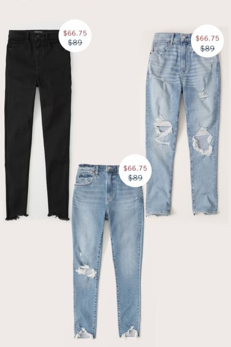 Abercrombie Jeans on sale  #LTKsalealert